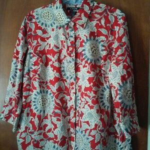 Chaps Floral Button up Shirt women's 1x